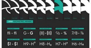 4photoshopir-Font-URW-Geometric-فونت فارسی URW Geometric