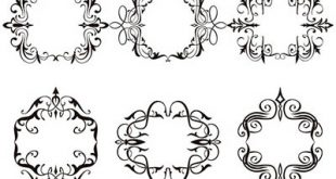 4photoshopir-brush-Calligraphic-Frames-pack5-براش قاب پک5