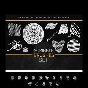 4photoshopir-brush-Scribble-pack2-براش مداد پک2