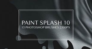 4photoshopir-brush-Splatter-pack6-براش پاشش رنگ پک6