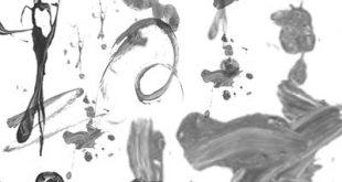 4photoshopir-brush-dripping-liquid-pack1-براش ریختن رنگ پک1
