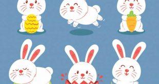4photoshopir-bunnies-pack1-وکتور خرگوش پک1