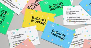 4photoshopir-business-card-mockup-pack332-موکاپ کارت ویزیت پک332
