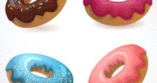 4photoshopir-donut-pack1-وکتور پیراشکی پک1