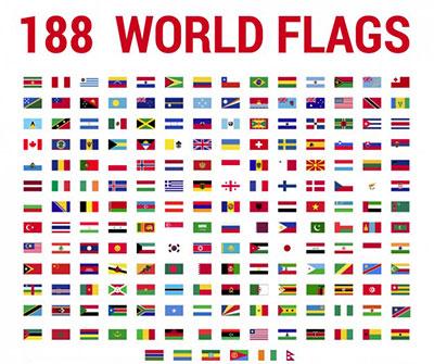 عکس پرچم کشورهای جهان با نام