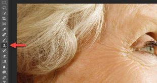 حذف چروک صورت با فتوشاپ