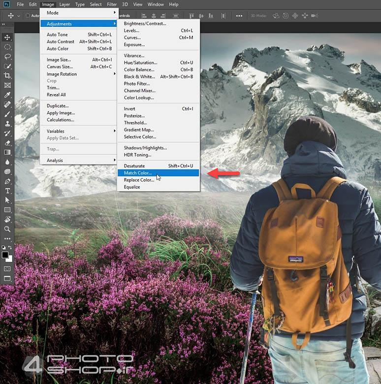 4photoshopir-match-color-pic1-هماهنگ کردن رنگ در ترکیب عکس با فتوشاپ