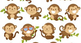 4photoshopir-monkey-vector-pack1-وکتور میمون پک1
