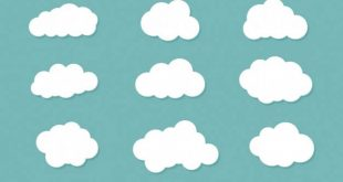 4photoshopir-white-clouds-pack2-وکتور ابر پک2